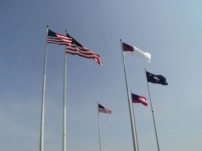 Flags of Fort Sumter image. Click for full size.