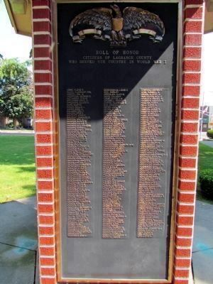 "W.W.I ""A-L"" - LaGrange County Roll of Honor image. Click for full size."