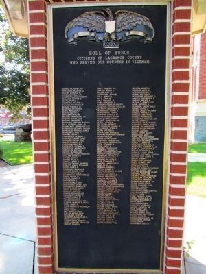 Vietnam - LaGrange County Roll of Honor image. Click for full size.