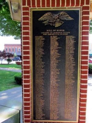 Others Who Served - LaGrange County Roll of Honor image. Click for full size.