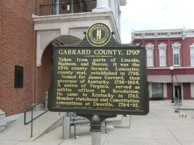 Garrard County, 1797 Marker image. Click for full size.