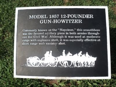 Model 1857 12-Pounder Gun-Howitzer Marker image. Click for full size.