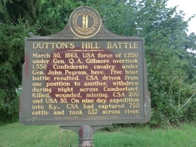 Dutton's Hill Battle Marker image. Click for full size.