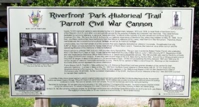 Parrott Civil War Cannon Marker image. Click for full size.