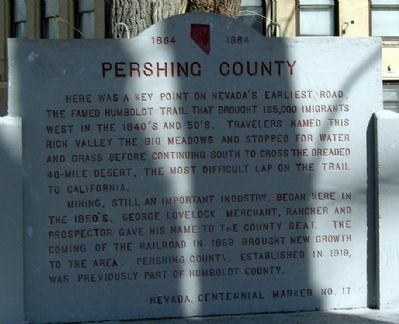 Pershing County Marker image. Click for full size.