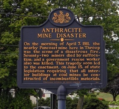 Anthracite Mine Disaster Marker image. Click for full size.