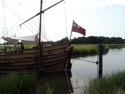 Site of the First English Settlement in SC - Charles Towne image. Click for full size.