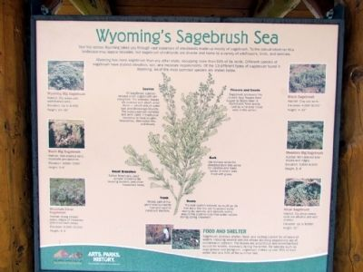 Wyoming's Sagebrush Sea Marker image. Click for full size.