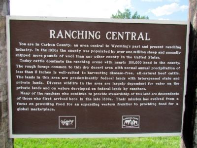 Ranching Central Marker image. Click for full size.