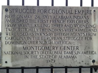 Struggle For Colonial Empire Marker image. Click for full size.