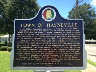 Town of Hayneville Marker image. Click for full size.