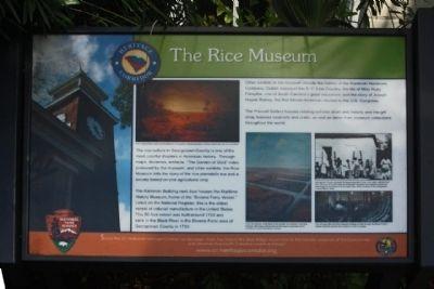 The Rice Museum Marker image. Click for full size.