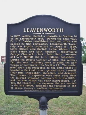 Leavenworth Marker image. Click for full size.