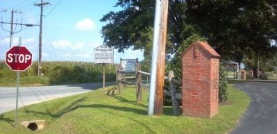 North Sassafras Parish Marker Roadside Photo, Click for full size