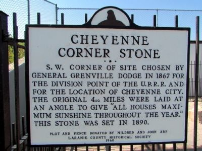 Cheyenne Corner Stone Marker image. Click for full size.