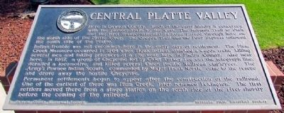 Central Platte Valley Marker image. Click for full size.