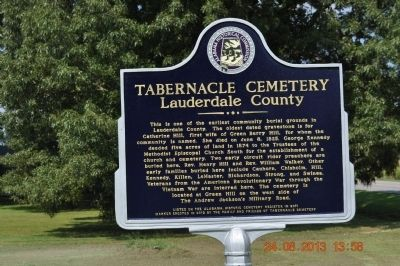 Tabernacle Church Marker image. Click for full size.