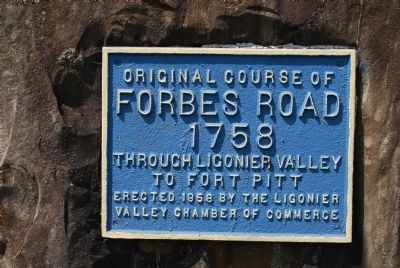 Original Course of Forbes Road Marker image. Click for full size.