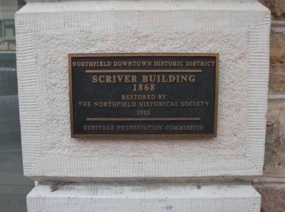 Plaque at Historic First National Bank image. Click for full size.