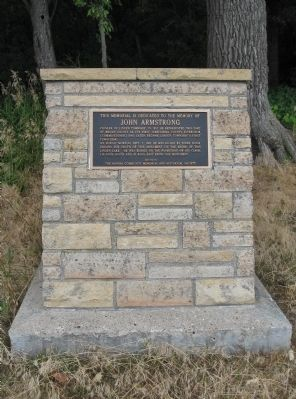 John Armstrong Marker image. Click for full size.