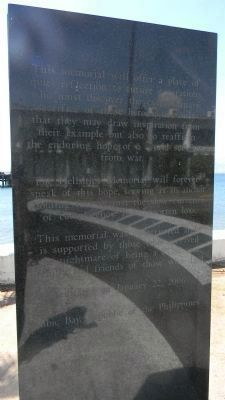 The Hellships Memorial - second monolith image. Click for full size.