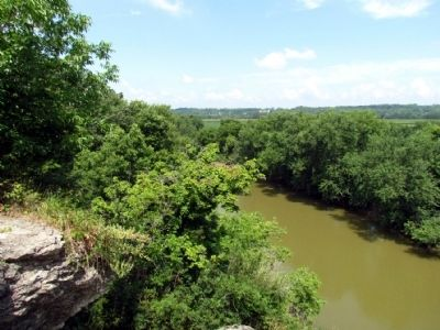 View of Wabash River from Top of Hanging Rock image. Click for full size.