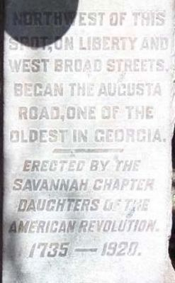 Augusta Road Marker image. Click for full size.