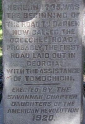 Ogeechee Road Marker image. Click for full size.
