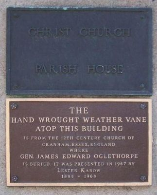 Christ Church Parish House Marker image. Click for full size.