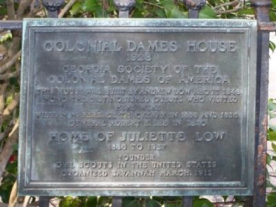 Colonial Dames House Marker image. Click for full size.