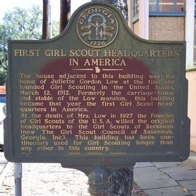 First Girl Scout Headquarters in America Marker image. Click for full size.