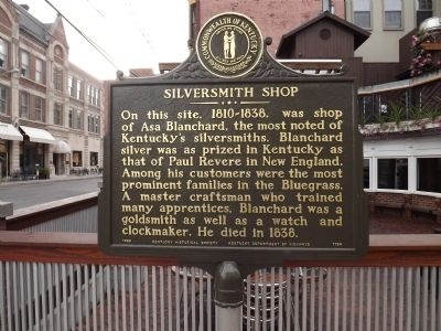 Silversmith Shop Marker image. Click for full size.