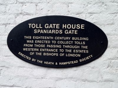 Toll Gate House Marker image. Click for full size.