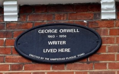 George Orwell House Marker image. Click for full size.