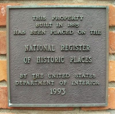 16 North Main Street NRHP Marker image. Click for full size.