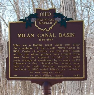 Milan Canal Basin Marker image. Click for full size.