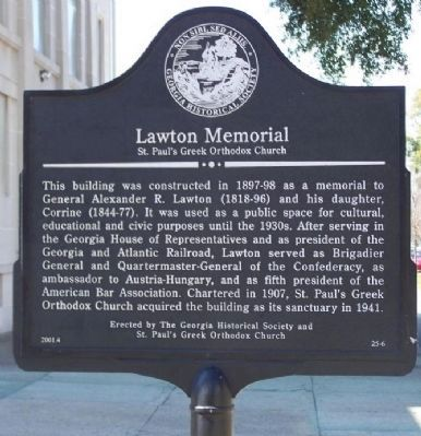 Lawton Memorial Marker image. Click for full size.
