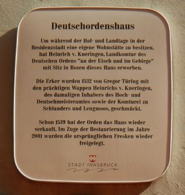 German Religious House Marker image. Click for full size.