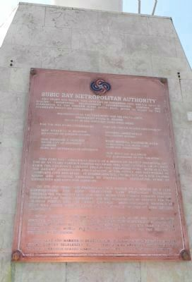 Subic Bay Metropolitan Authority Marker image. Click for full size.