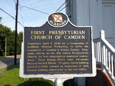 First Presbyterian Church of Camden Marker image. Click for full size.