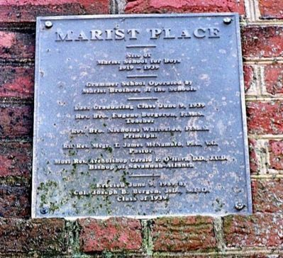 Marist Place Marker image. Click for full size.