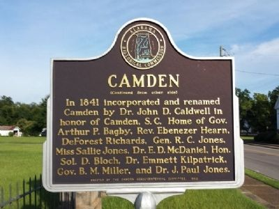 City of Camden Marker (reverse) image, Click for more information