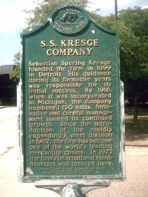 S.S. Kresge Company Marker image. Click for full size.
