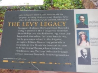 The Levy Legacy Marker image. Click for full size.