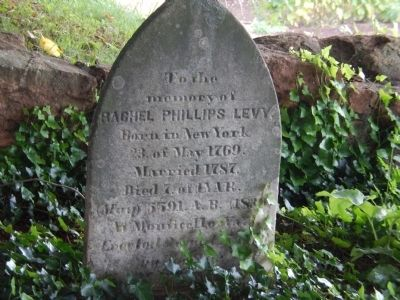 Headstone of Rachel Phillips Levy image. Click for full size.