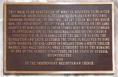 Original Presbyterian Meeting House Marker image. Click for full size.