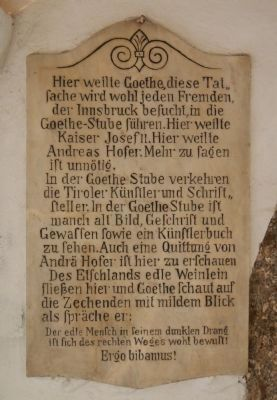 Goethe Stayed Here Marker image. Click for full size.