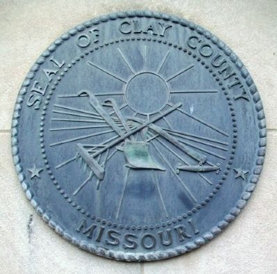 Clay County Seal on Courthouse South Facade image. Click for full size.