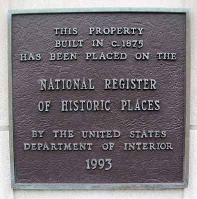 15 East Kansas Street NRHP Marker image. Click for full size.
