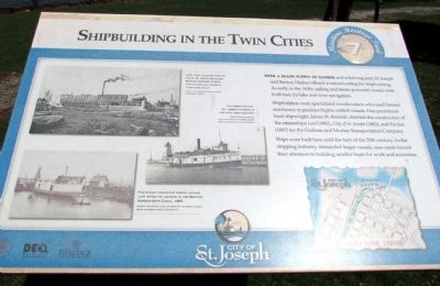 Shipbuilding in the Twin Cities Marker image. Click for full size.
